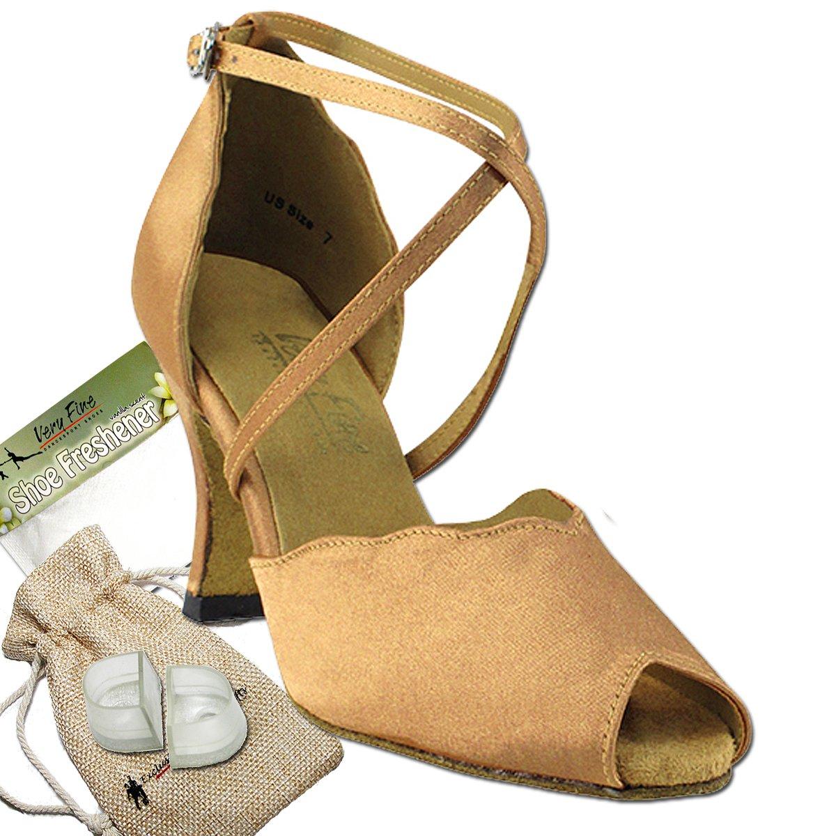 [Very Fine Dance Shoes] レディース B00912N2CQ ブラウンサテン 5 B(M) US