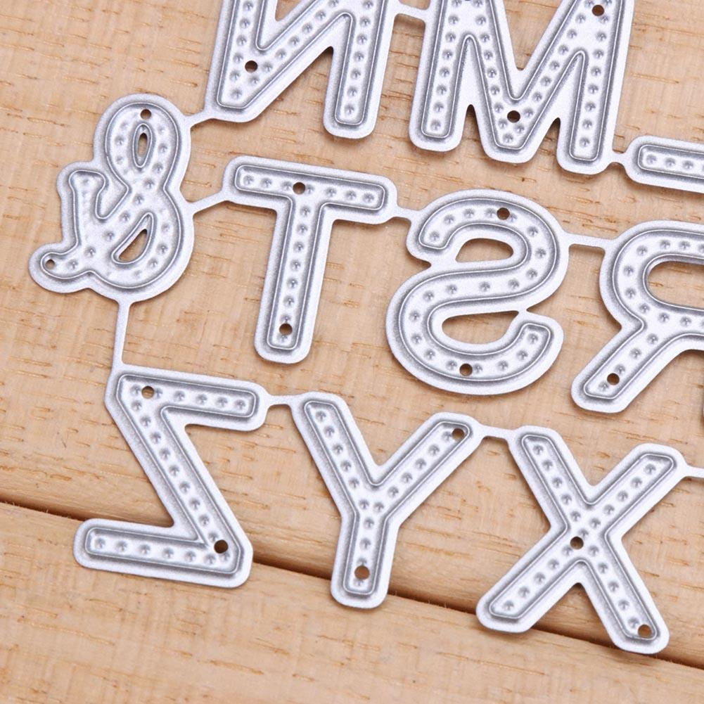 26pcs Letters Cutting Dies Metal DIY Scrapbooking and Embossing Paper Craft