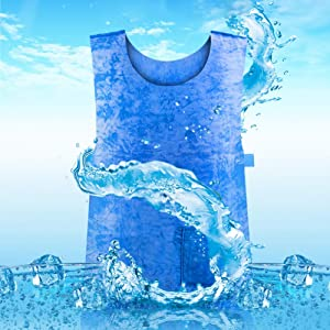 YOOAN Summer Ice Cooling Sport Vest PVA Waterproof for Men Women Sunstroke Clothing For Outdoor Sport Work Vest