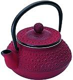 Ibili Hanoi Single teapot - teteras (Rojo, hierro fundido, Single teapot)