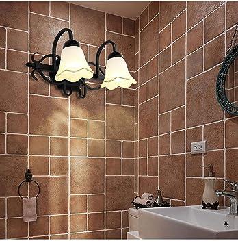 Espejo rústico Lámpara Delantera Lavabo Cuarto de baño Lámpara de ...
