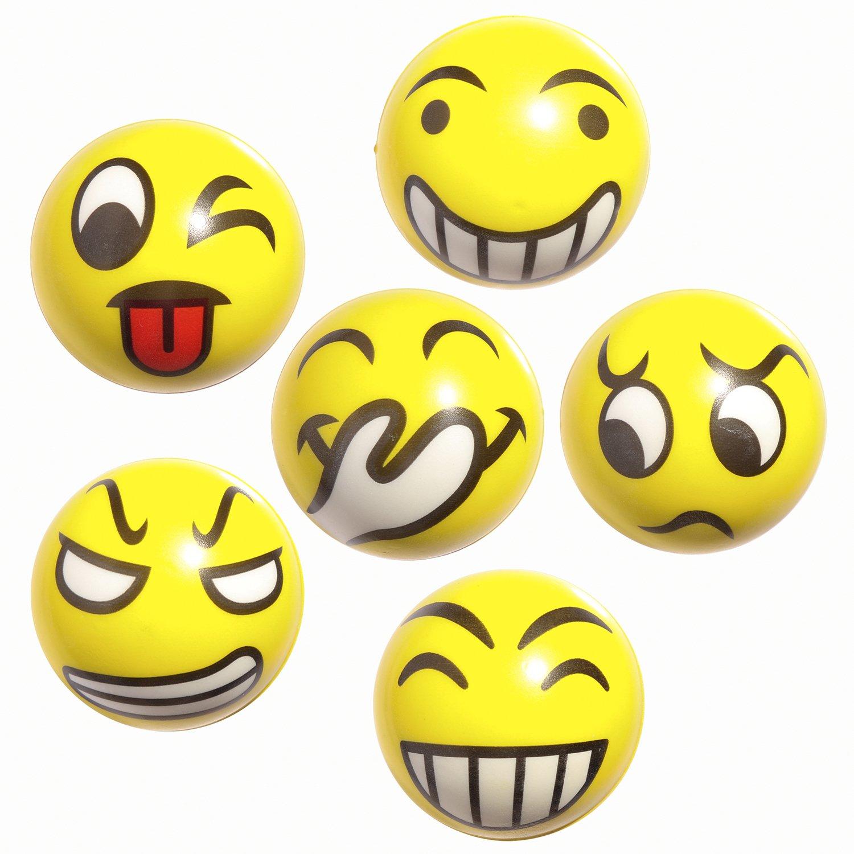 12pcs Emoji Squishy Ball Zydtrip Squishy Spielzeugball