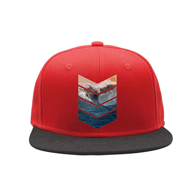 3b61a8f2758f40 ZhongQi Man Sunrise Surfer Logo Contrast Color Cap Snapback Hat Trucker Hat