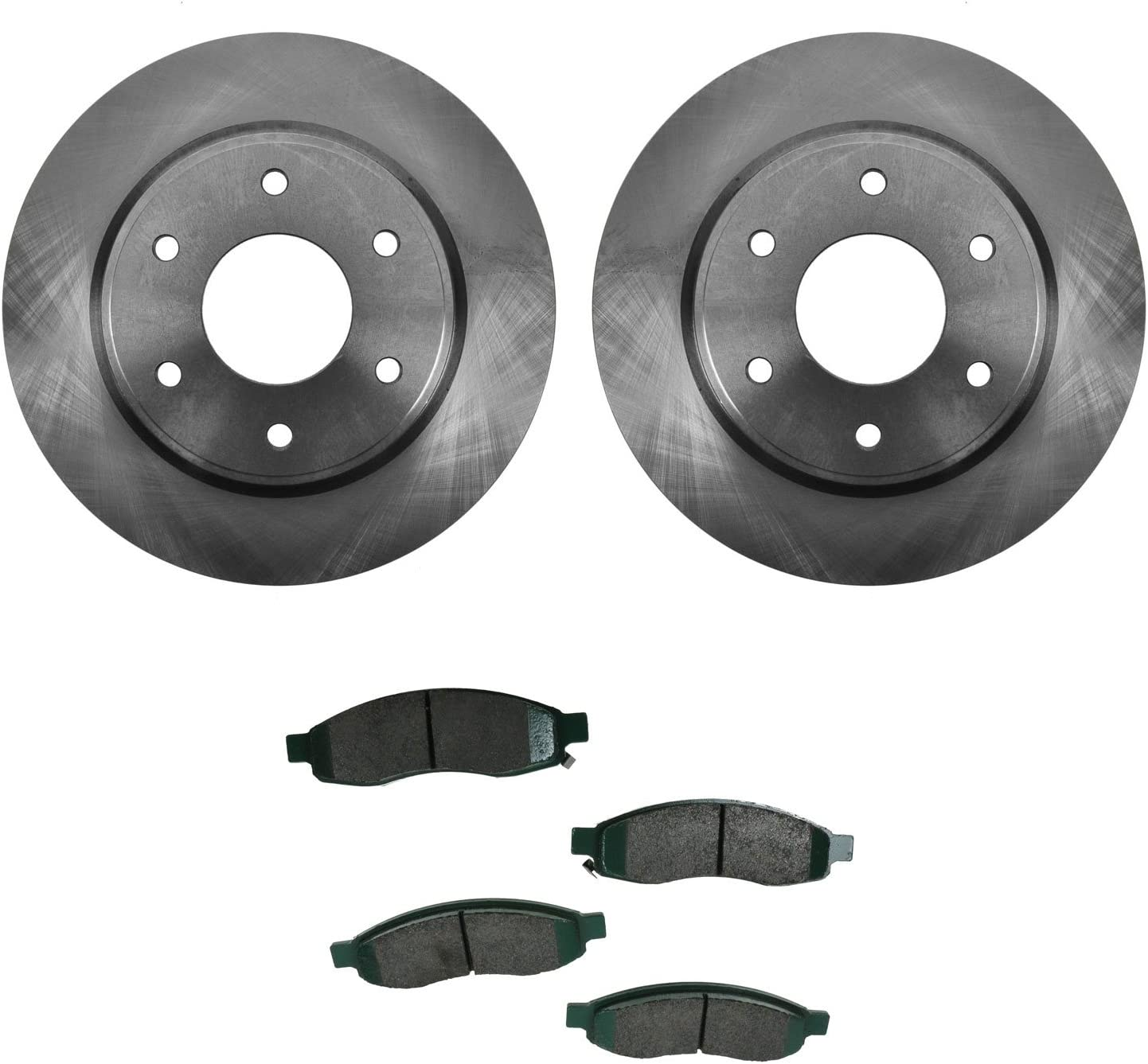 Front Black Hart Drilled Slotted Brake Rotors and Ceramic Pads Quest,Villager