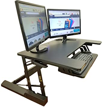 standing desk height adjustable stand up sit stand desks converter standup workstation fits big monitors