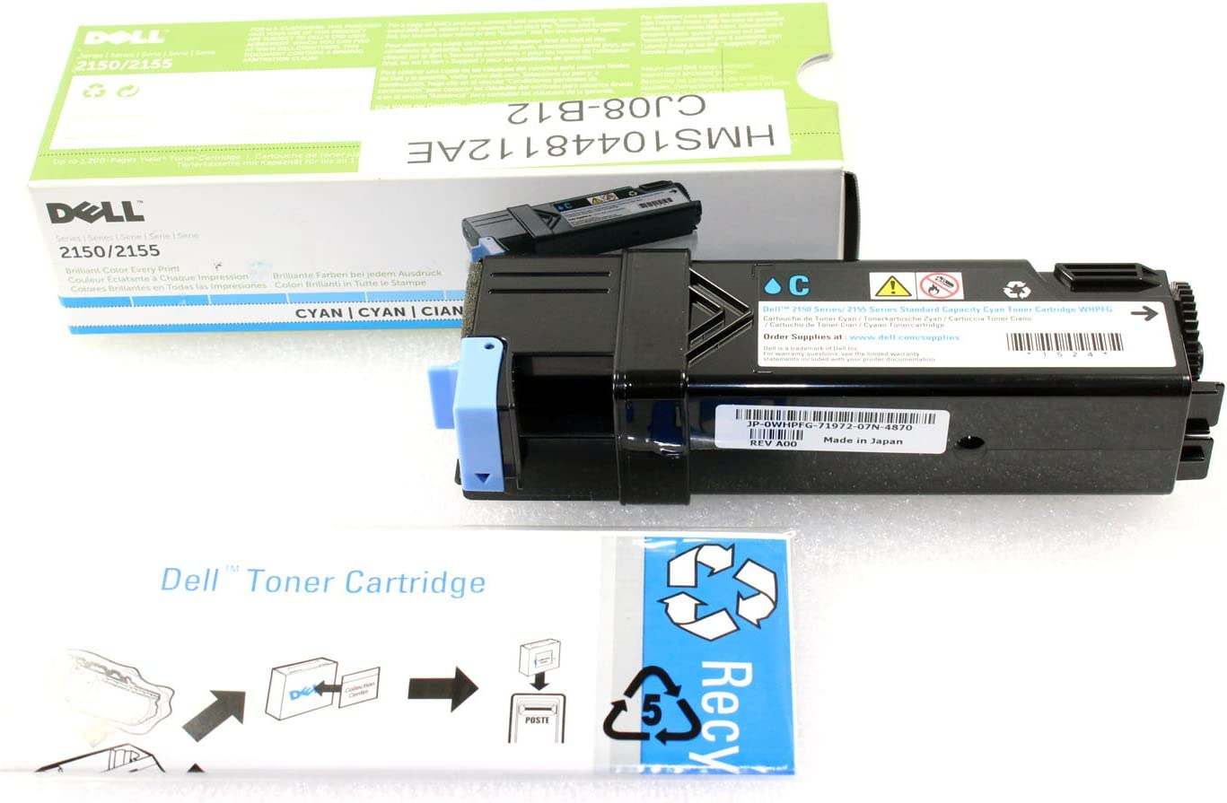 Dell WHPFG Toner for 2150cdn, 2150cn, 2155cdn, 2155cn SY, Cyan