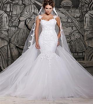 LUCKY-U Vestido de novia Vestido sirena Vestido de novia Vestido formal Elegante Capilla Banquete