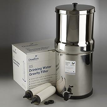 Super Sterasyl Purificador de agua por gravedad de acero inoxidable con ATC, filtros de metal pesado.: Amazon.es: Industria, empresas y ciencia