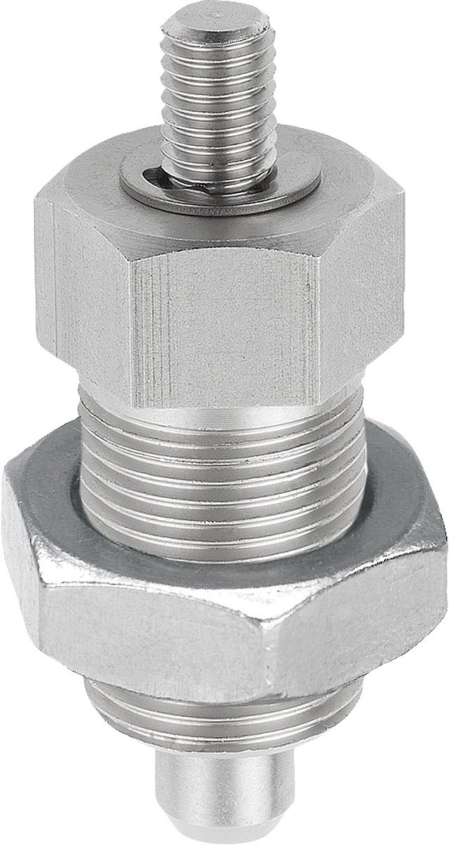 Hinged Hardened Locating Pins Size 4/M20x1,5//°F Shape Stainless Steel Diameter 12/mm Pack of 1 k0341.02412