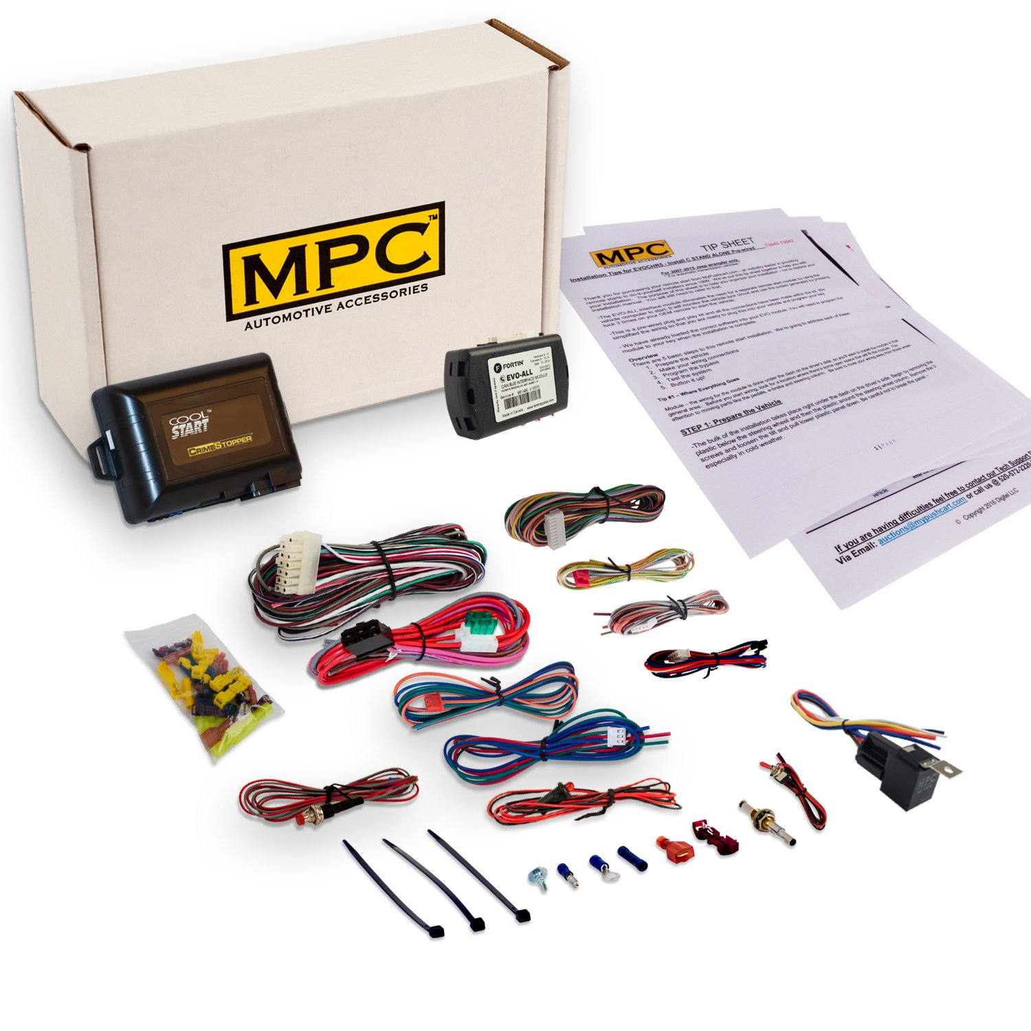 MPC Complete Add-On Remote Start Kit For 2012-2015 Toyota Tacoma with Key to Start - Uses Factory Remotes