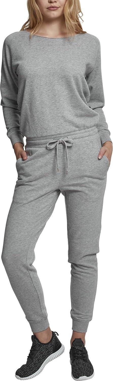 TALLA XS. Urban Classics Ladies Long Sleeve Terry Jumpsuit Mono Largo para Mujer