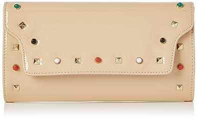 Swankyswans Valencia Patent Leather Clutch, Pochettes femme, (Nude), 5x15x29.4 cm (W x H L)