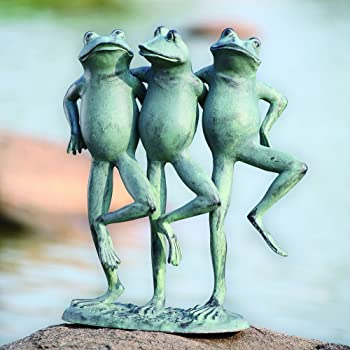 metal frog sculpture dancing frogs