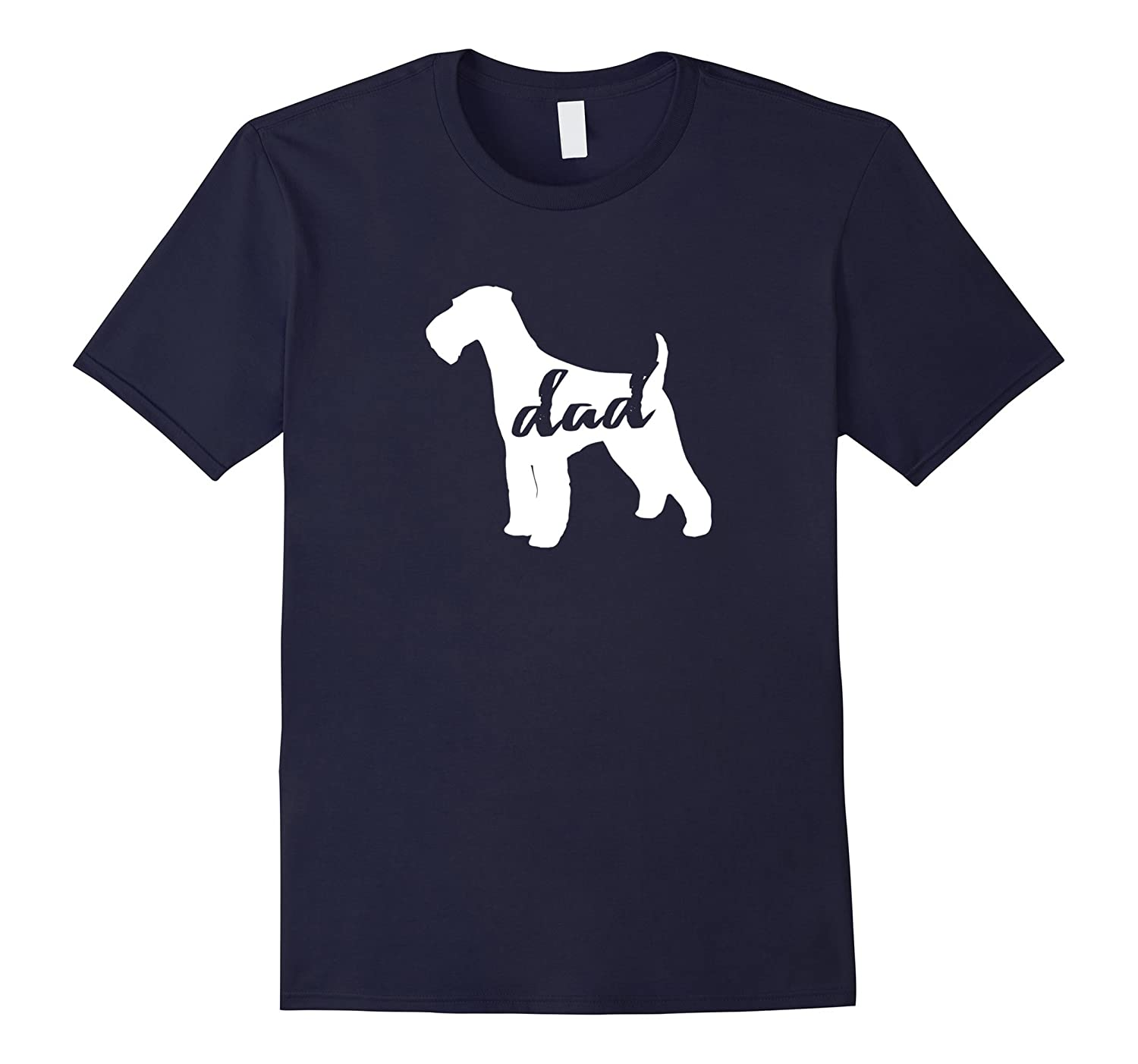 Airedale Terrier Dog Dad T-Shirt-FL