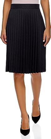 oodji Collection Mujer Falda Plisada por Rodilla: Amazon.es: Ropa ...
