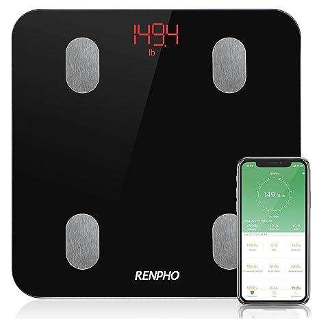 RENPHO Báscula de Baño Digital de Alta Medición Precisa, Balanza Digital Baño con Bluetooth por