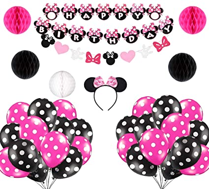 Amazon.com: Minnie Mouse – Diadema para fiesta de cumpleaños ...