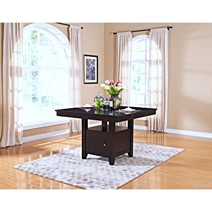 Amazoncom Ncf Kassel Counter Height Dining Table With Storage