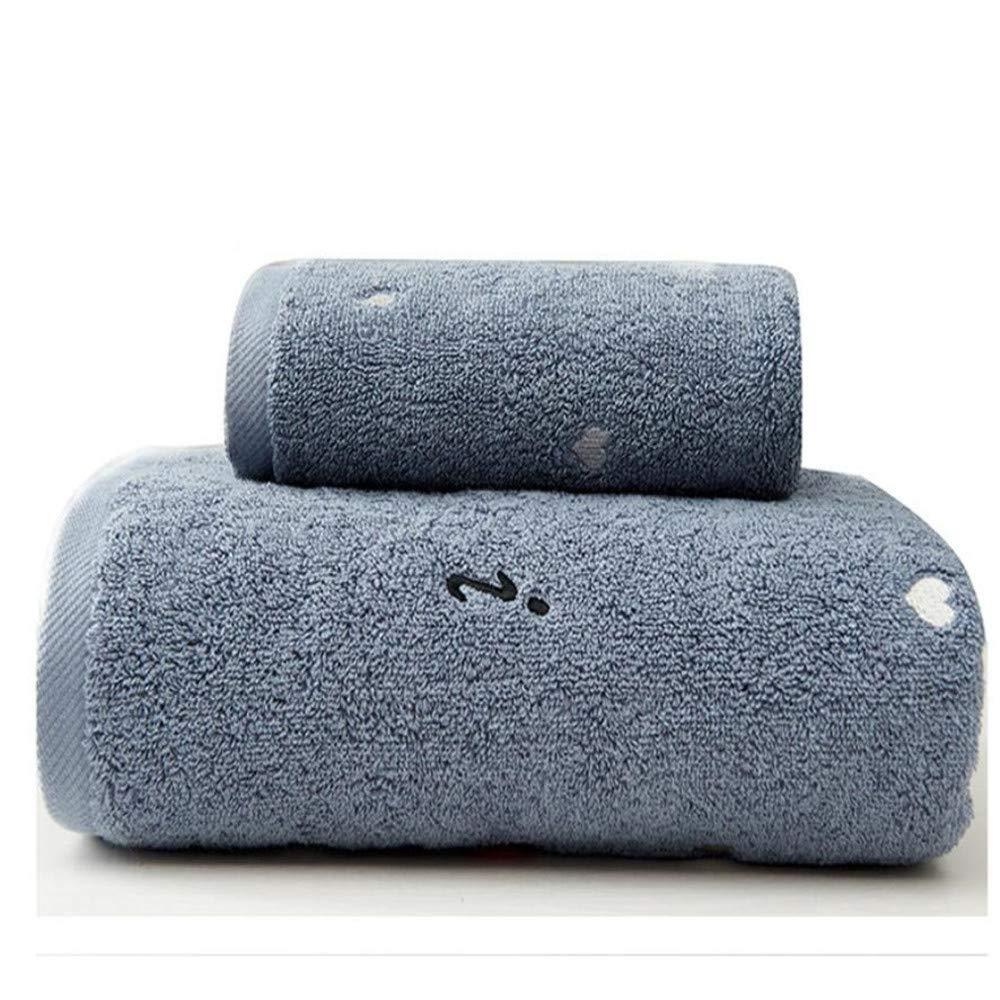 YIWAN Asciugamano Bianco Anti-sbiadimento Morbido 40 * 170cm Rosa 34 * 75cm Resistente Cotone Asciugamano Assorbente Set di 2 Asciugamano