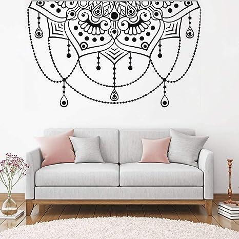 Arte cabecero decoración etiqueta de la pared vinilo mandala ...