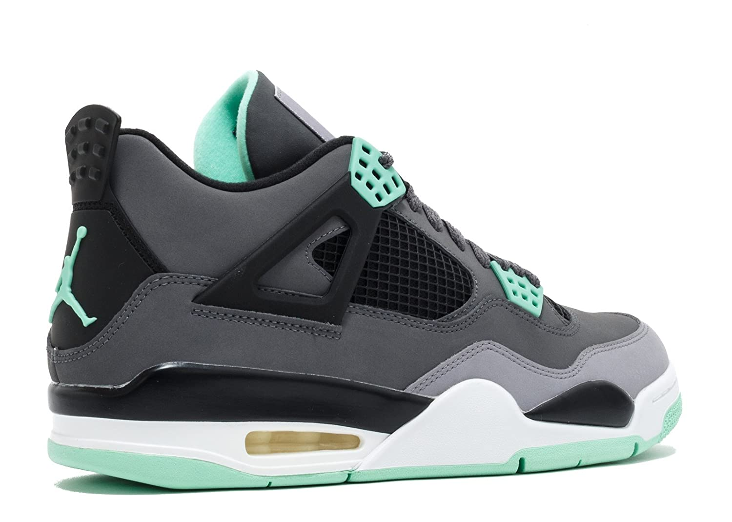 06aa90a0f178e1 ... denmark amazon jordan air 4 retro mens sneakers dark grey green glow cement  grey black fashion