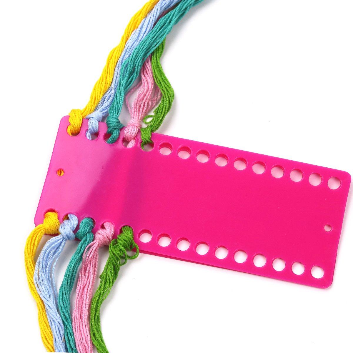 D&D Floss Organiser, 30 Positions Cross Stitch Thread Organiser Cards Holder - 2PCS Thread Holder (Red)