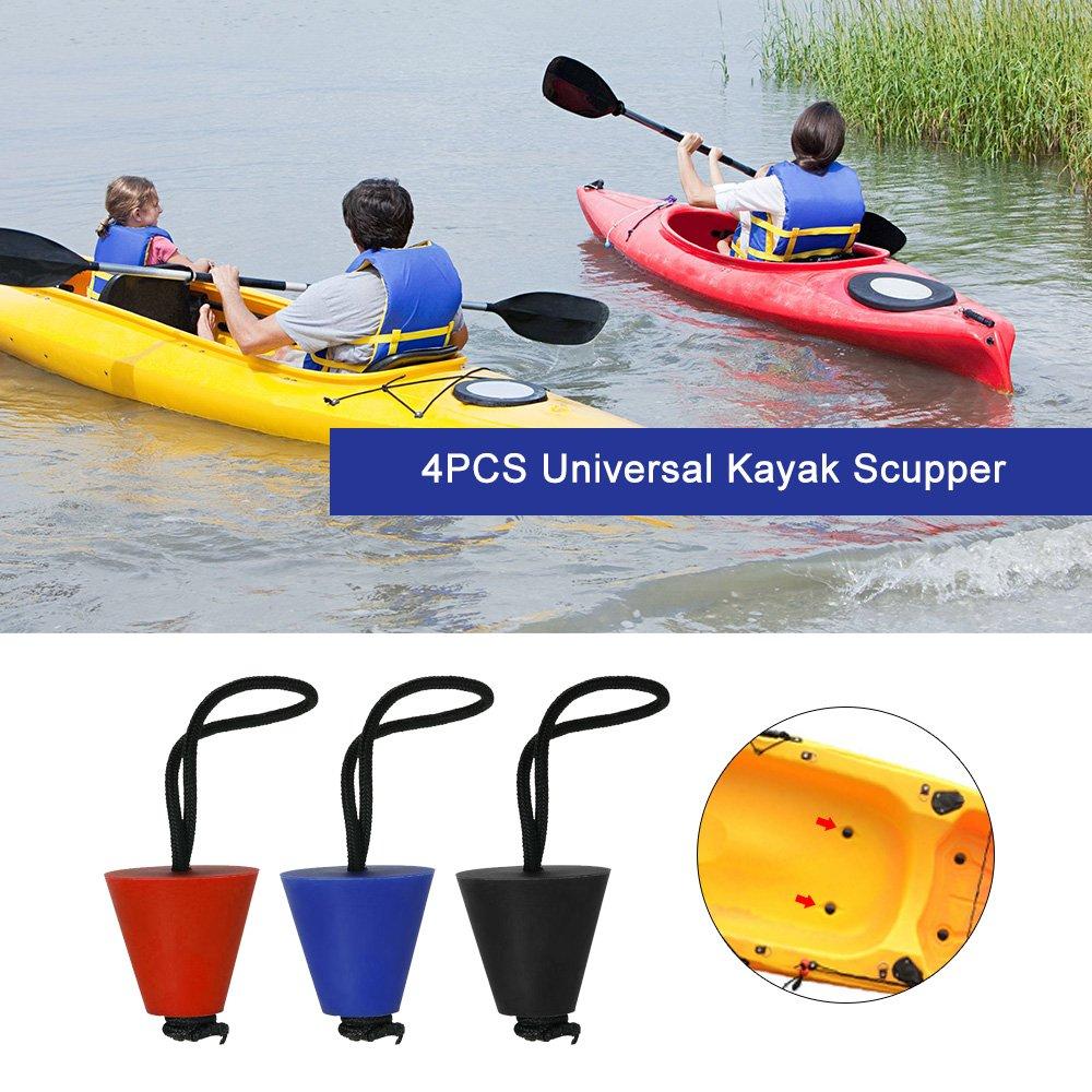 Festnight 4PCS Best Universal Kayak Scupper Plug Kit Kayak Scupper Plug Kit Canoe Drain Holes Stopper Bung