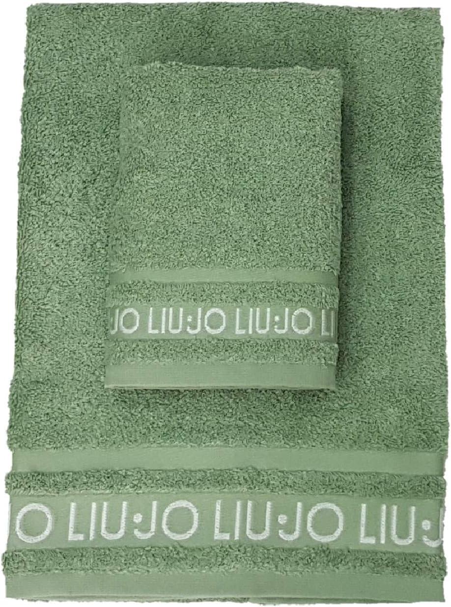 Beige Liu Jo Set Asciugamano Viso Asciugamano ospite Spugna 500 Grammi m//q