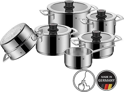WMF VarioCuisine Aroma Dampfgarer Cromargan Edelstahl mit Glasdeckel inkl Silikonrand sp/ülmaschinengeeignet Thermometer