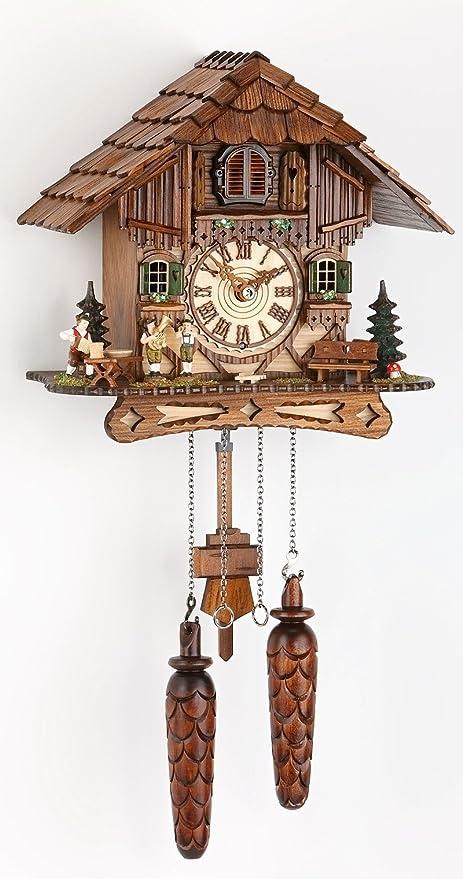 Alemán Reloj de cuco - estilo Chalet - con mecanismo de cuarzo - 25 cm -