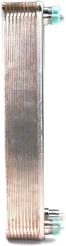 Brazed 20 Plates Heat Exchanger and Wort Chiller-Copper Brazed Chiller Plates Wort Chiller-Stainless Steel Beer Chiller for Homebrew,R 1/2