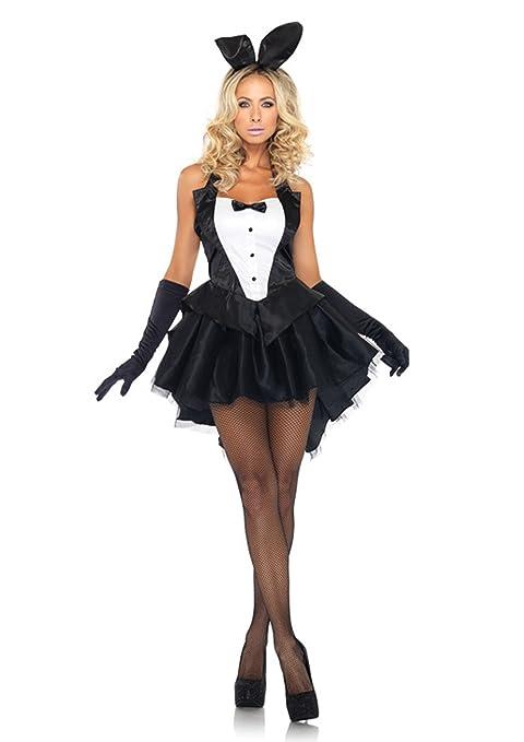 Nuevas señoras negro lazo de color blanco Smart estilo conejo ...