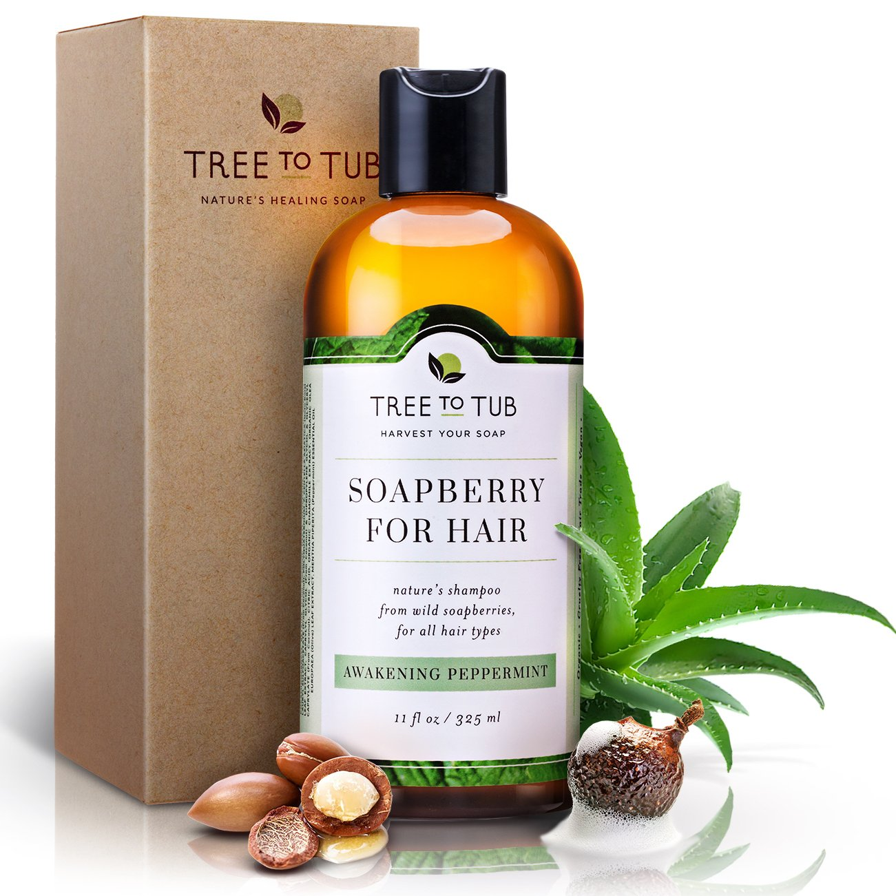 Real, Organic Shampoo For Oily Hair, The Only pH 5.5 Balanced Peppermint Scalp Shampoo For Sensitive Skin – Women And Mens Shampoo With Fresh Eco-Friendly Wild Soapberries, Natural Hair Shampoo.