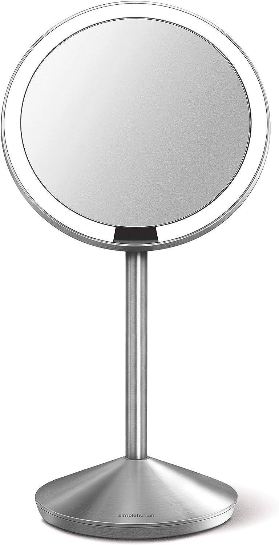 Simplehuman Miroir USB Grossissant Style Hollywood Avec Lampes LED x10 12cm