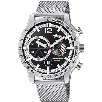 Lotus Reloj Cronógrafo para Hombre de Cuarzo con Correa en Acero Inoxidable 10137/3: Amazon.es: Relojes
