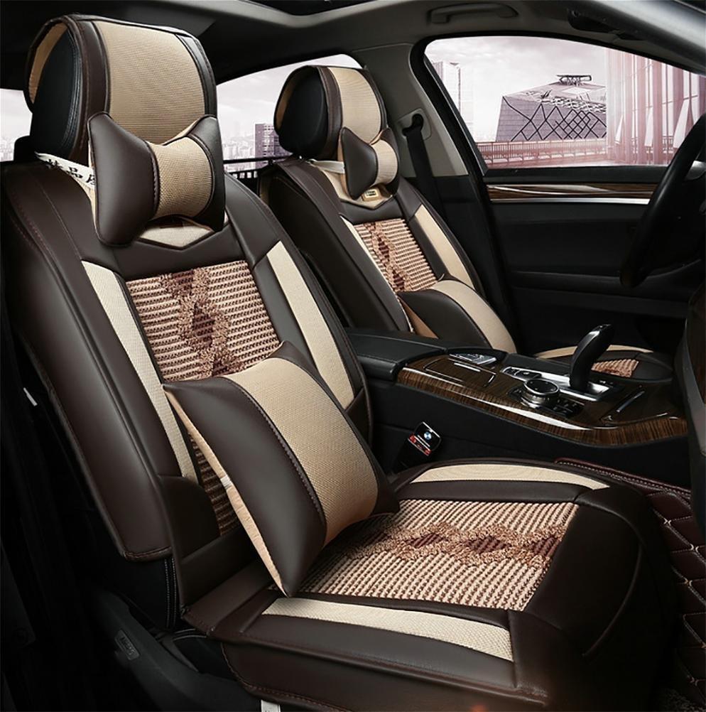 YAOHAOHAO Universal car leather seat cushion, black red