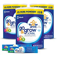 3-Pack Go & Grow by Similac Milk Based Toddler Drink (36oz cans) + 2 On-The-Go Stickpacks