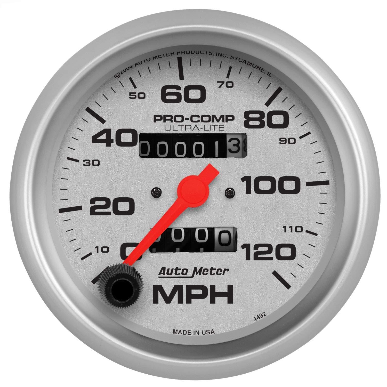 Auto Meter 4492 Ultra-Lite In-Dash Mechanical Speedometer by AUTO METER