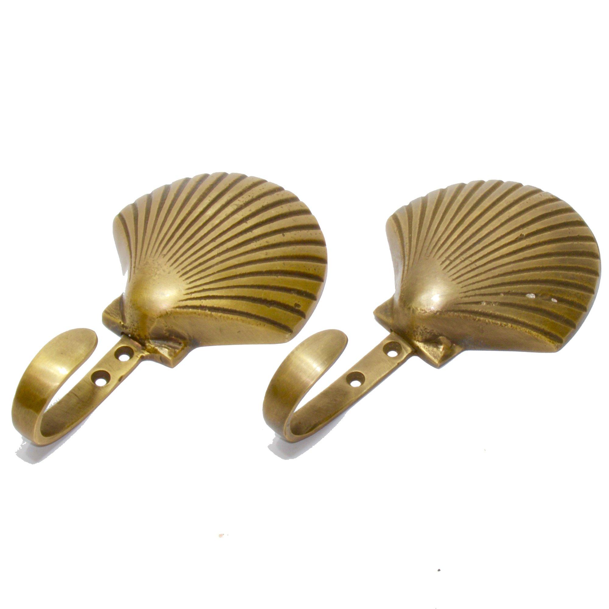 Seashell Brass Hook (Single Unit)