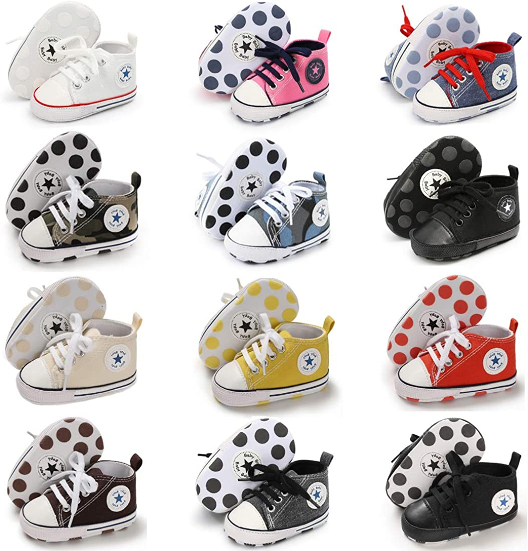   Tutoo Unisex Baby Boys Girls Star Sneaker Soft Anti-Slip Sole Newborn Infant First Walkers Cotton Shoes   Sneakers