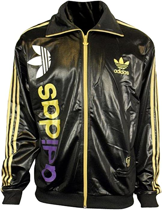 Adidas Originals Chile 62 tracksuit jacket top. Black & gold