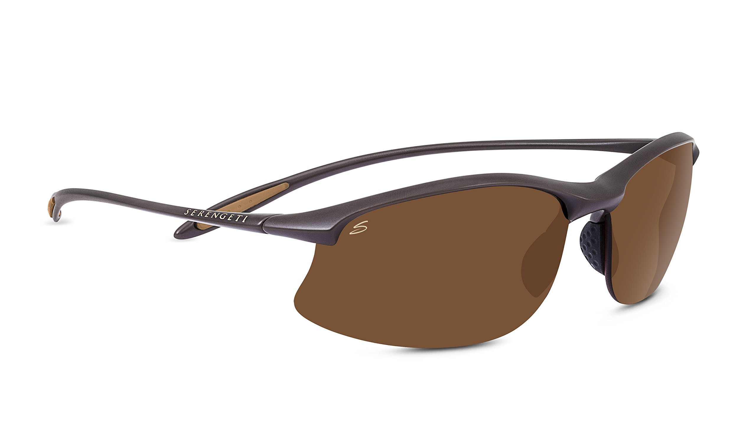 Serengeti Maestrale Polar PhD Drivers Sunglasses, Sanded Dark Brown by Serengeti