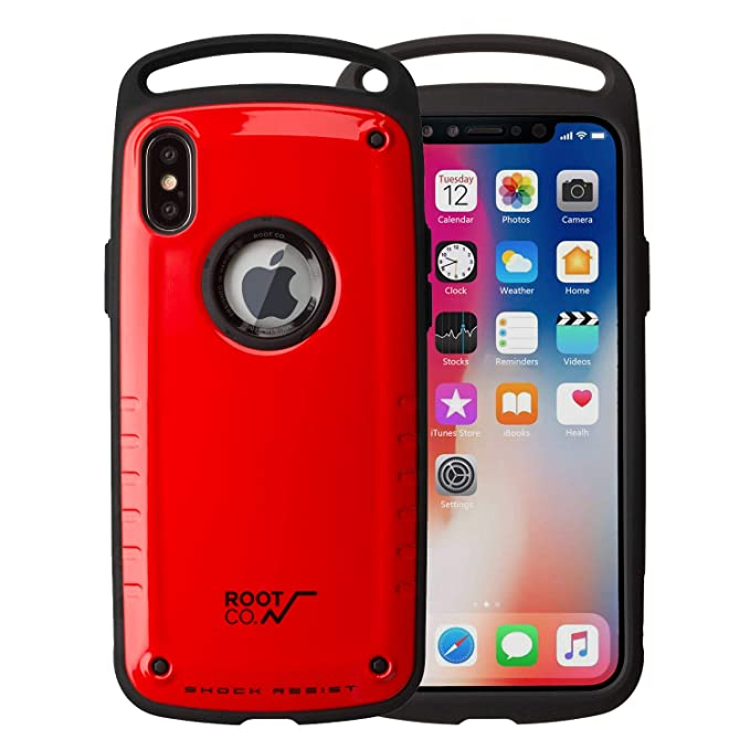 Root Co Iphone X Iphone Xs Case Gravity Shock Resist Feather Light Rugged Military Drop Tested Iphone Case Red Glossy