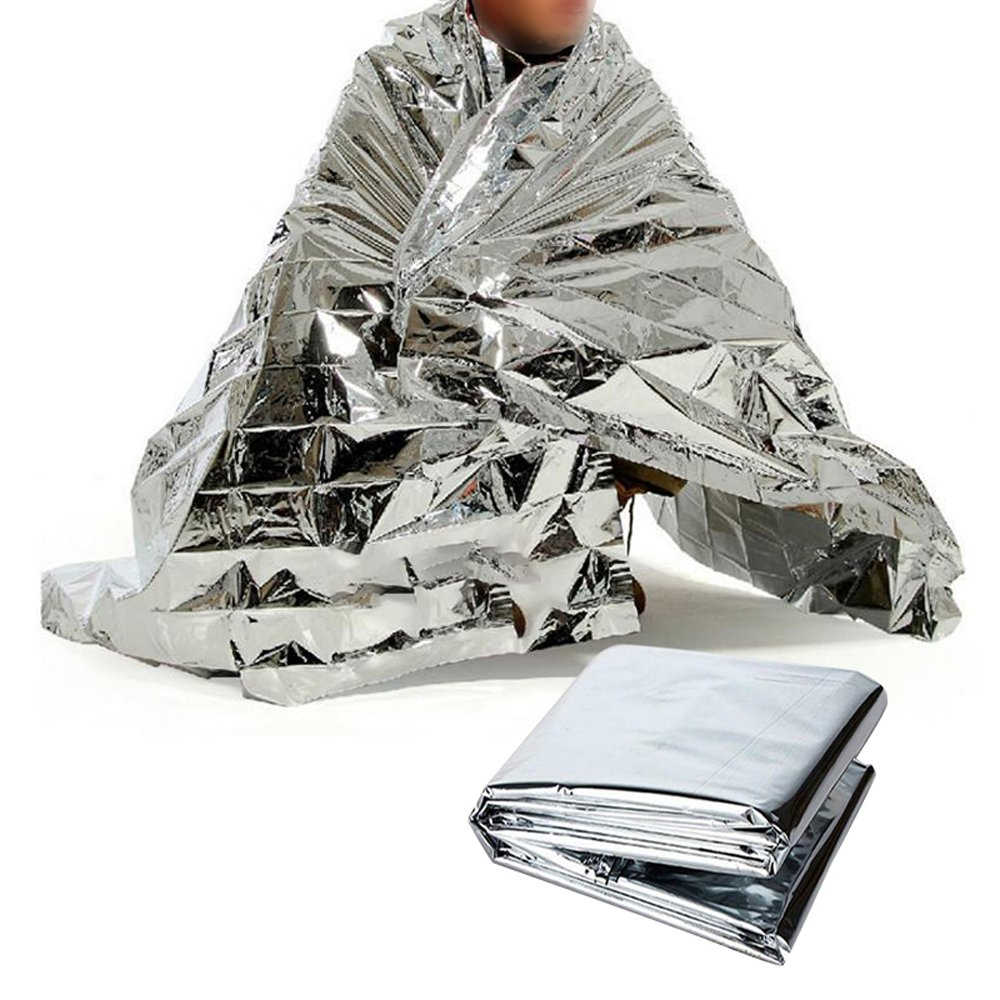 Zinnor Emergency Blanket (5 Bags),Gold Foil Space Blanket 63''x83'', Waterproof Insulation Space Blanket, Perfect for Outdoor, Hiking, Survival, Marathon or First Aid