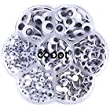 500 Pieces Mixed Self-adhesive Wiggle Googly Eyes DIY Scrapbooking Crafts Toy Accessories (Assorted Sizes)