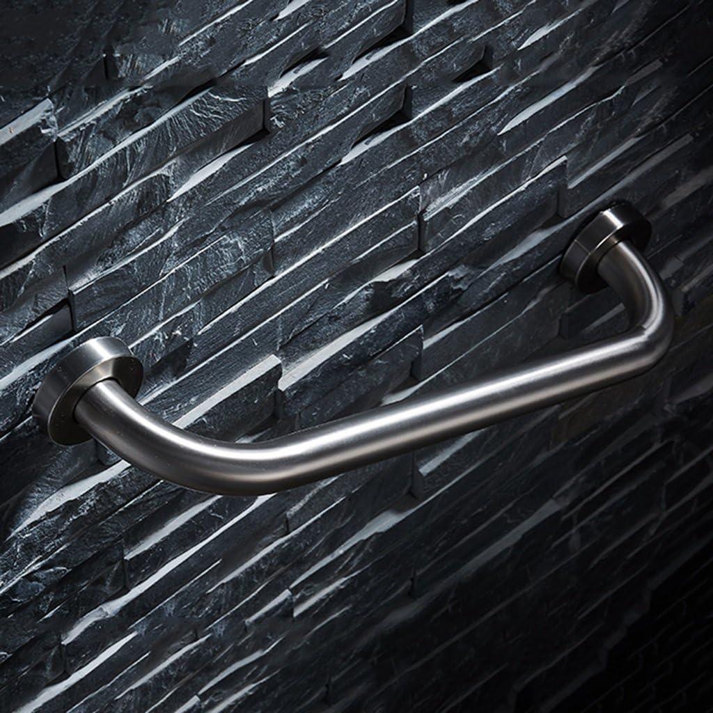 Barras de seguridad para barra de baño Barras de seguridad de la escalera de la manija del tocador de la escalera para personas mayores de acero inoxidable cepillado con discapacidad (Tamaño :
