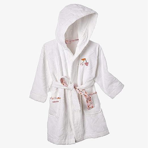 Catimini - Albornoz para niña de Escapade Kawaii, 10/12 años, algodón, Color Blanco: Amazon.es: Hogar