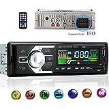 Autoradio Bluetooth sans fil avec Adapteur ISO Voiture Lecteur MP3/WMA/FLAC/WAV support USB/SD AUX/MMC DC 12V Radio Stéréo FM Numérique Haute-Fidélité