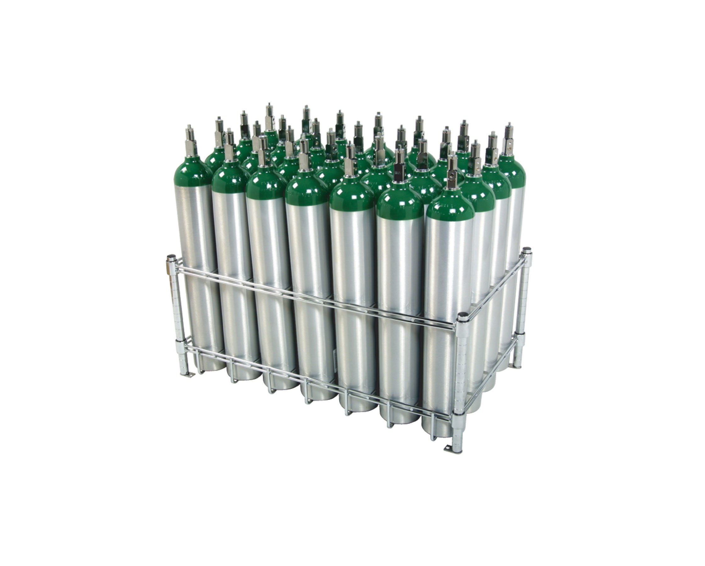 Stack & Rack Oxygen Tank Storage Rack - Holds 28 E Size Cylinders