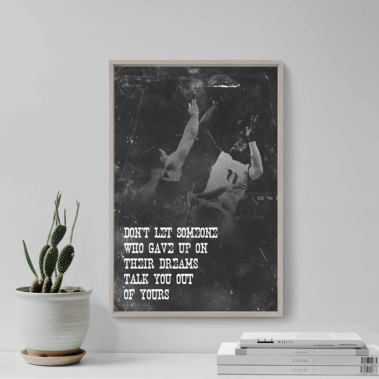 30 x 20 cm Size: 12 x 8 Inches //// TPCK //// Basketball Motivational Poster 05Dont let someone Photo Print Art Motivation Quote Gift B ball
